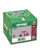 SPAX Halbrundkopf T-STAR plus 4CUT Vollgewinde WIROX A3J  4x15  -  1000 Stk