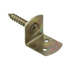 Flechtzaunhalter L-Form mit Schraube TX30 50 Stk gelb verz.