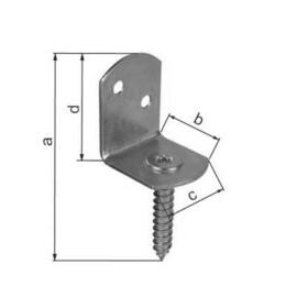 Flechtzaunhalter L-Form mit Schraube TX30 1 Stk Edelstahl A2