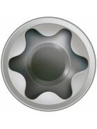 SPAX Terrassenschraube T-STAR plus CUT Fixiergewinde Edelstahl rostfrei A2 1.4567  5x50 - 200 Stk