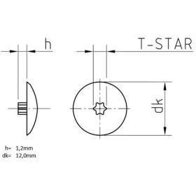 Abdeckkappen Kunststoff Tiefschwarz für I-Stern TX