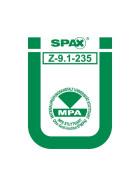 SPAX Tellerkopf Edelstahl A2  8x120 TX40 10 Stk