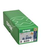 SPAX Senkkopf 8 mm T-STAR plus - Vollgewinde WIROX A3J  T40  -  8x200  -  50 Stk