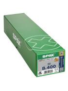 SPAX Senkkopf 8 mm T-STAR plus - Vollgewinde WIROX A3J  T40  -  8x400  -  50 Stk