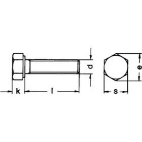 Sechskantschraube DIN 933 Vollgewinde M8x100 Edelstahl A2 - 100 Stk