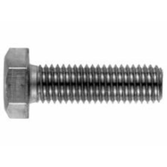 Sechskantschraube DIN 933 Vollgewinde M6x10 Edelstahl A4-70 - 500 Stk