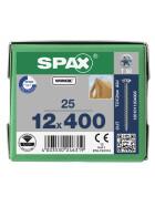 SPAX Senkkopf 12 mm T-STAR plus - Vollgewinde WIROX A3J  T50  -  12x400  -  25 Stk