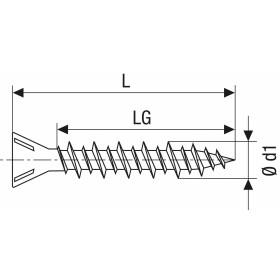 SPAX GIX-C Trockenbauschraube Senkkopf Fräsrippen H2 HILO-Gewinde  -  1000 Stk 3,9x25