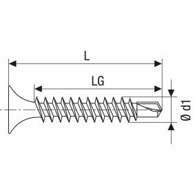 SPAX GIX-D Trockenbauschraube Trompetenkopf H2 Bohrspitze  -  1000 Stk 3,5x35