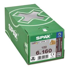 SPAX WIROX Zylinderkopfschraube  T-STARplus VG TX30 6 x 160  100 Stk