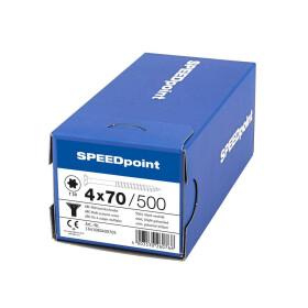 SPEEDpoint Universalschraube Senkkopf T20 Teilgewinde  blank verzinkt 500ST - 4 x 70