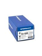 SPEEDpoint Universalschraube Senkkopf T25 Teilgewinde  blank verzinkt 200ST - 5 x 120