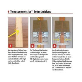 Terrassenmeister Bohrschablone für den Terrassenbau
