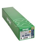 SPAX Senkkopf 8 mm T-STAR plus - Teilgewinde WIROX A3J  T40  -  8x400  -  50 Stk