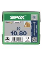 SPAX Senkkopf 10 mm T-STAR plus - Teilgewinde WIROX A3J  T50  -  10x80  -  50 Stk