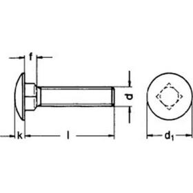 Schlossschraube DIN 603 Edelstahl A2  M8 X 55-55  100 Stk