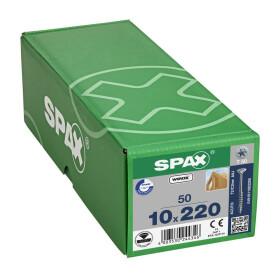 SPAX Senkkopf 10 mm T-STAR plus - Teilgewinde WIROX A3J  T50  -  10x220  -  50 Stk