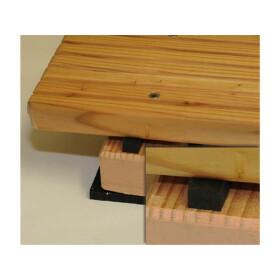 Gummi Distanzband für Terrassen 1200mm x 12 mm 10 Stk