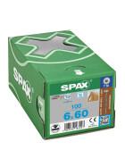 SPAX Tellerkopf 6 mm T-STAR plus 4CUT Vollgewinde Edelstahl rostfrei A2 1.4567  6x60 - 100 Stk