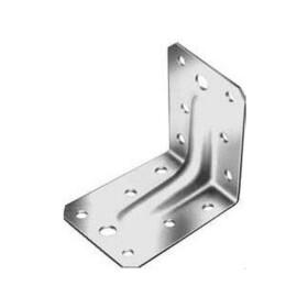 Winkelverbinder Edelstahl mit Rippe 105x105x90x2,5 mm  1 Stk