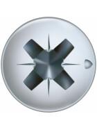 SPAX Halbrundkopf Kreuzschlitz Z 4CUT Vollgewinde Galvanisch blank verzinkt A2J  3x16  -  1000 Stk
