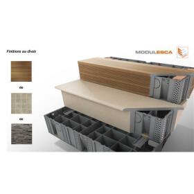 MODULESCA Modulartreppe Kunststoff Breite 100cm 1 Stk