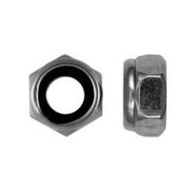 Sechskantsicherungsmuttern mit Kunststoffring - niedrige Form  galv. verzinkt DIN 985 - 24 - 50 Stk