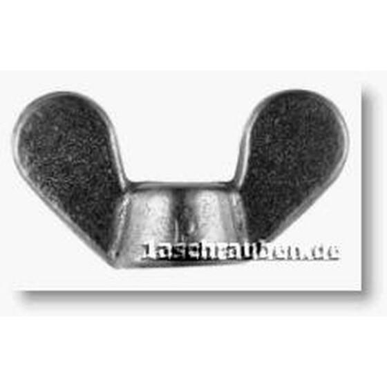 Flügelmuttern Temperguss  galv. verzinkt DIN 315 - 4 - 500 Stk