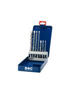 Hammerbohrer SDS-plus in Industriekassette 7-tlg. 5/6/8/ x 110 und 6/8/10/12 x 160 mm / HB7