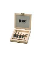 Aufstecks. auf Holzb. + Stiftschl. in Holzkasten 5-tlg. 3 - 4 - 5 - 6 / 12 mm / AHB5