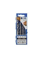Holzspiralbohrer Profi HSS-G Kunststoff-Kassette 5-tlg. 4 / 5 / 6 / 8 / 10 mm / HP50