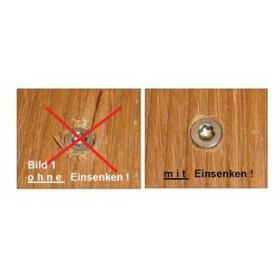 Spezialbohrer für alle Holzarten mit Senker und...