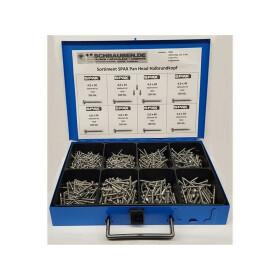 SPAX Sortiment Koffer PAN HEAD Halbrundkopf Edelstahl A2...