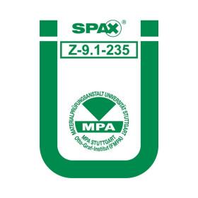 SPAX Universalschraube Senkkopf PZ Kopflochbohrung verzinkt
