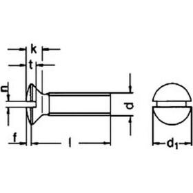 Linsensenkschraube mit Schlitz DIN 964 Edelstahl