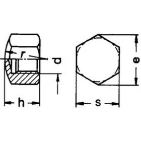 Hutmutter DIN 917 - niedrige Form - Edelstahl
