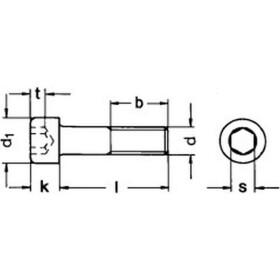 Zylinderschraube DIN 912  Innensechskant Edelstahl