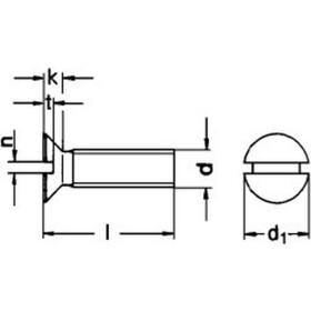 Senkschraube DIN 963 mit Schlitz Edelstahl