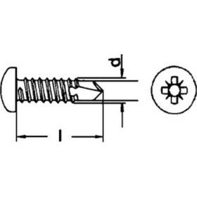Bohrschraube DIN 7504 Linsenkopf PZ Form M Edelstahl A2