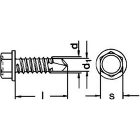 Bohrschraube DIN 7504 6kantkopf Bund Form K Edelstahl A2