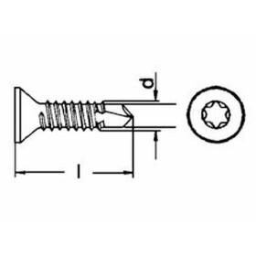 Bohrschraube DIN 7504 Senkkopf TX Form O Edelstahl A2