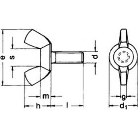 Flügelschraube amerikanische Form DIN 316 Edelstahl