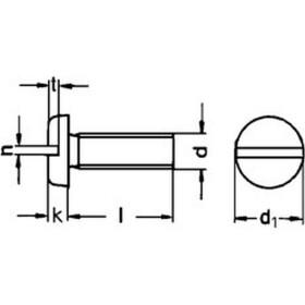 Flachkopfschraube mit Schlitz DIN 85 Edelstahl