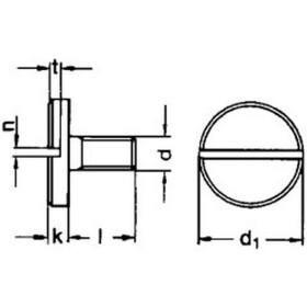 Flachkopfschraube mit Schlitz DIN 921 A2 Edelstahl