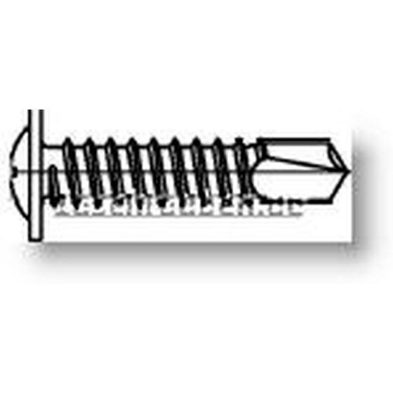 Bohrschrauben mit Linsenkopf M-H mit angepresster Scheibe  galv. verzinkt DIN 7504 - 4,2 x 13 - 1000 Stk