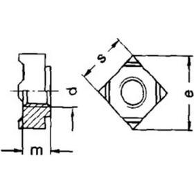 Schweißmutter vierkant DIN 928 Edelstahl