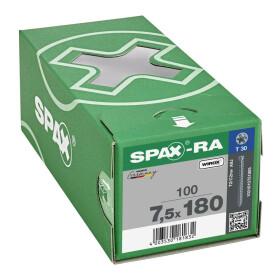 SPAX-RA Zylinderkopf T-STAR plus Vollgewinde WIROX A3J  7,5x180 - 100 Stk