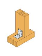 Winkel ohne Rippe verzinkt 70x70x55x2,0 - 1 Stk