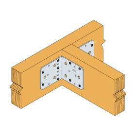 Winkel ohne Rippe verzinkt 105x105x90x3,0 - 1 Stk