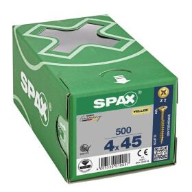 SPAX Senkkopf Kreuzschlitz Z - Teilgewinde YELLOX A2L  PZ2  -  4x45  -  500 Stk